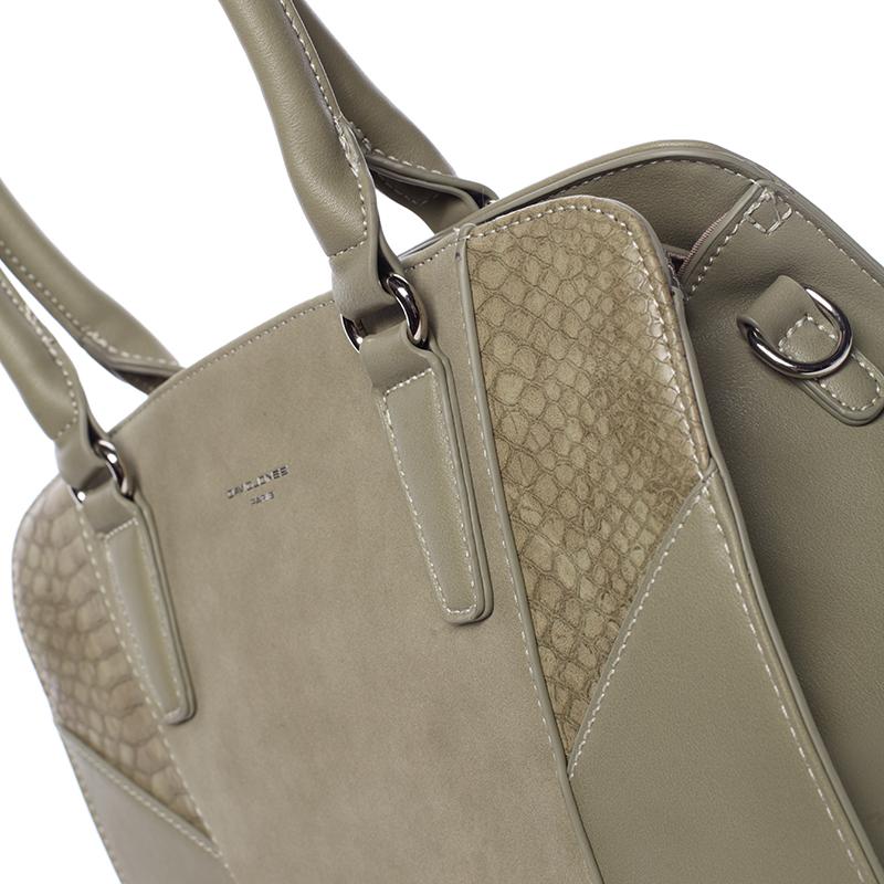 Luxusní dámská kabelka David Jones Paulina, khaki
