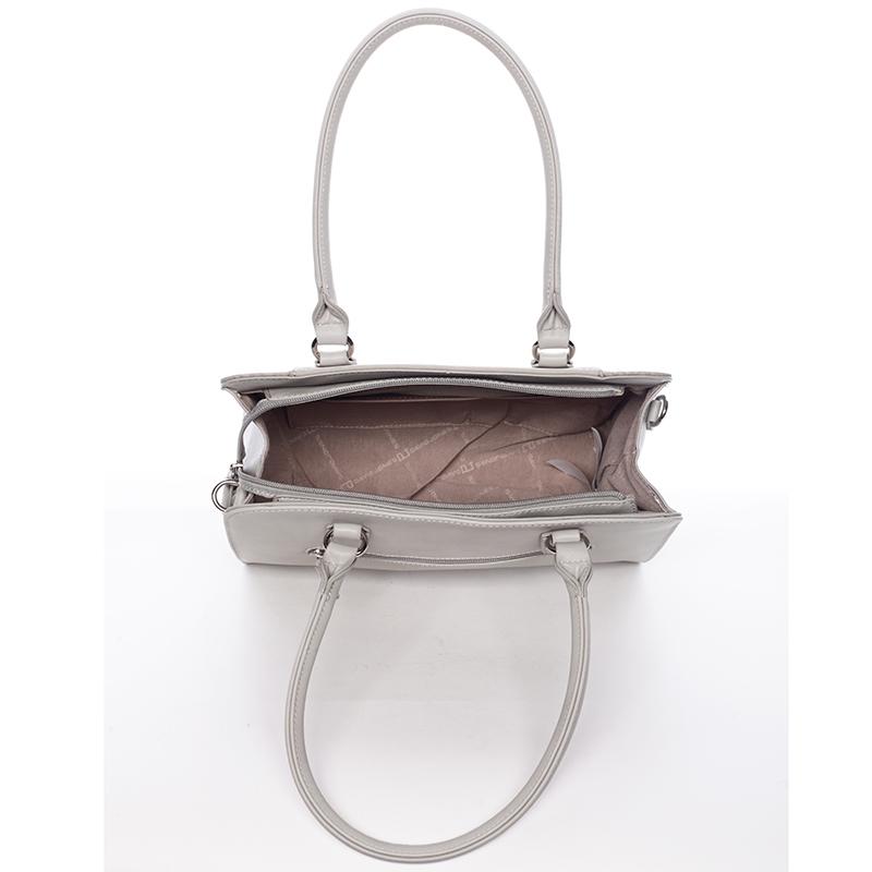 Luxusní dámská kabelka David Jones Paulina, světle šedá
