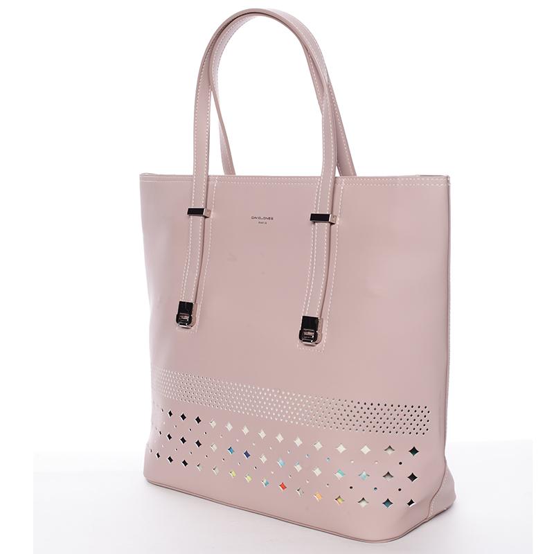 Luxusní dámská kabelka David Jones Sunshine, růžová