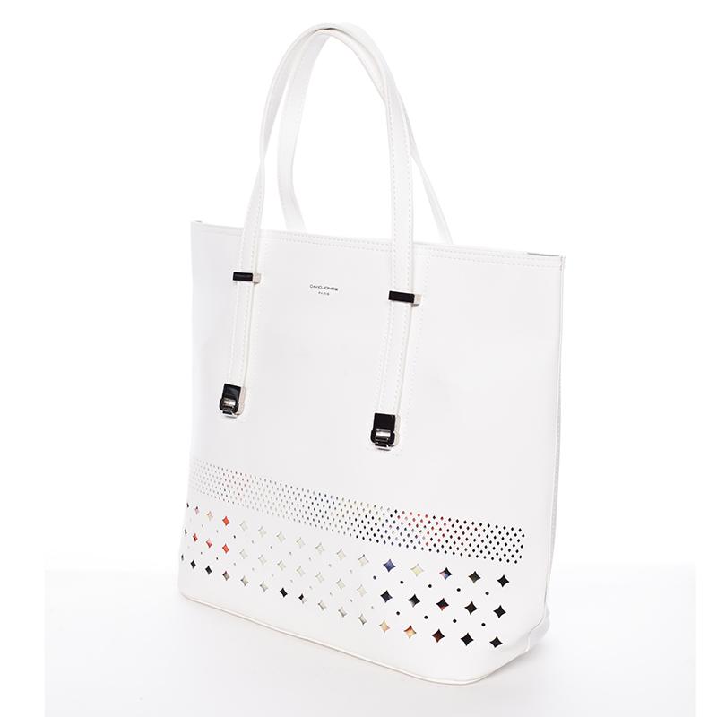 Luxusní dámská kabelka David Jones Sunshine, bílá