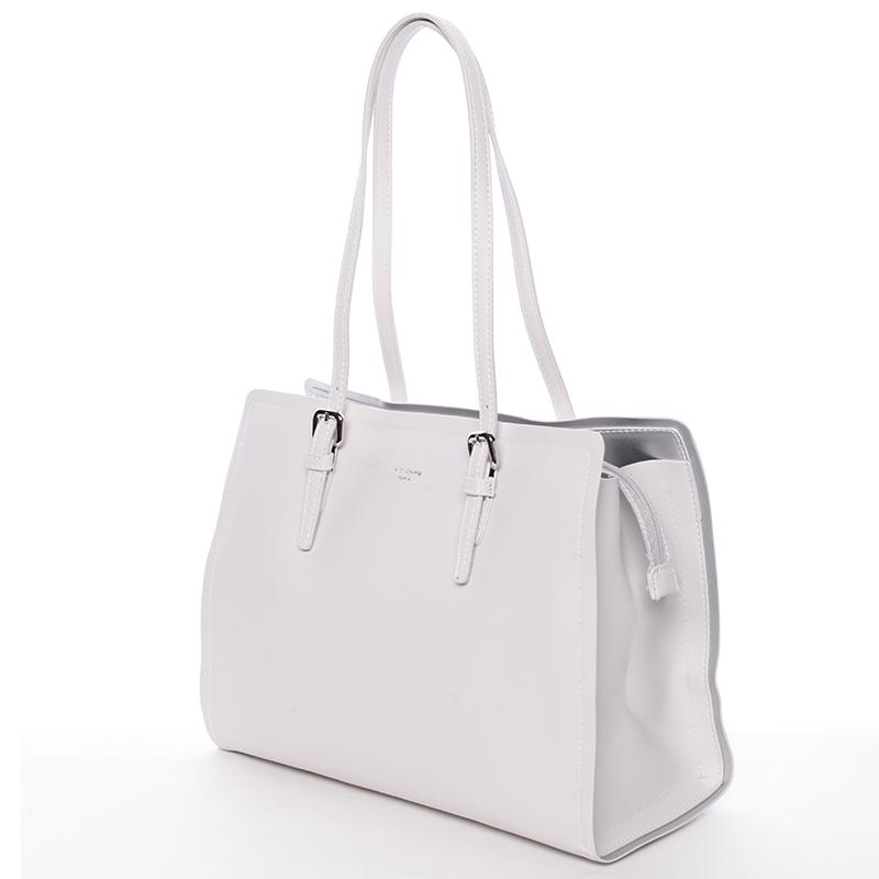 Elegantní kabelka přes rameno David Jones Camila, krémově šedá