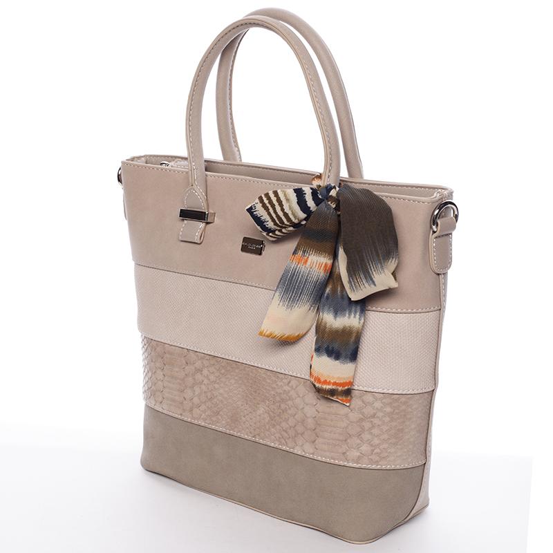 Luxusní kabelka David Jones Mariana, béžová