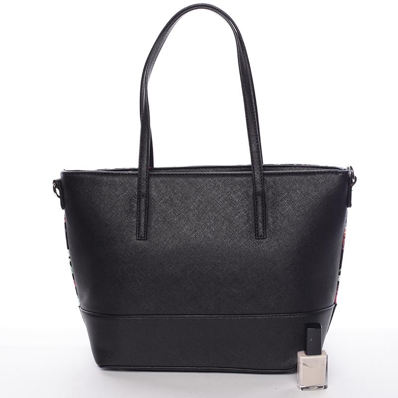 Stylová dámská kabelka David Jones Flora, černá