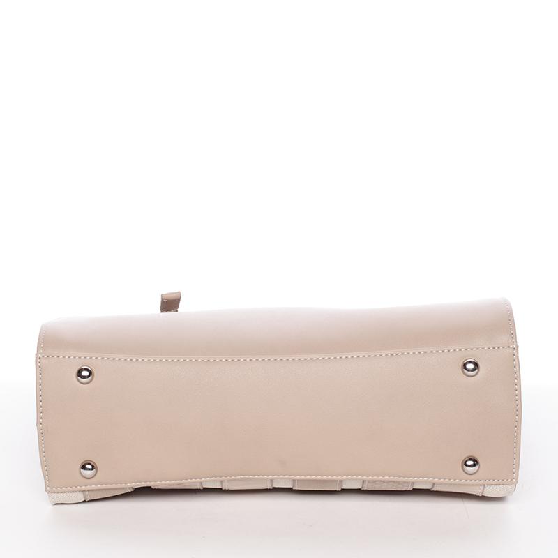 Dámská luxusní kabelka David Jones ESTELLE, béžová