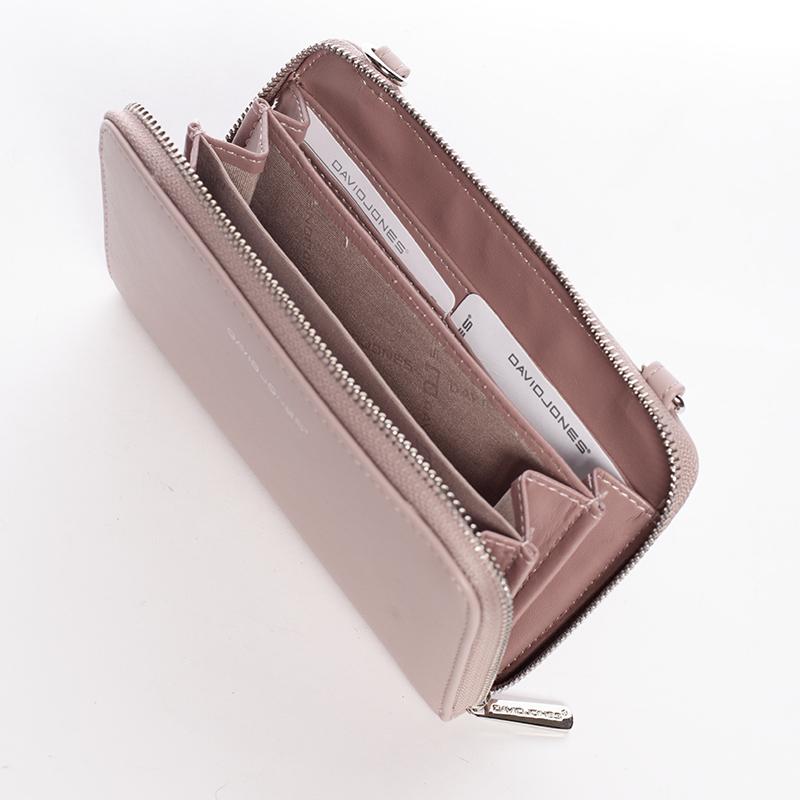 Dámské crossbody a peněženka David Jones Kelli, růžové