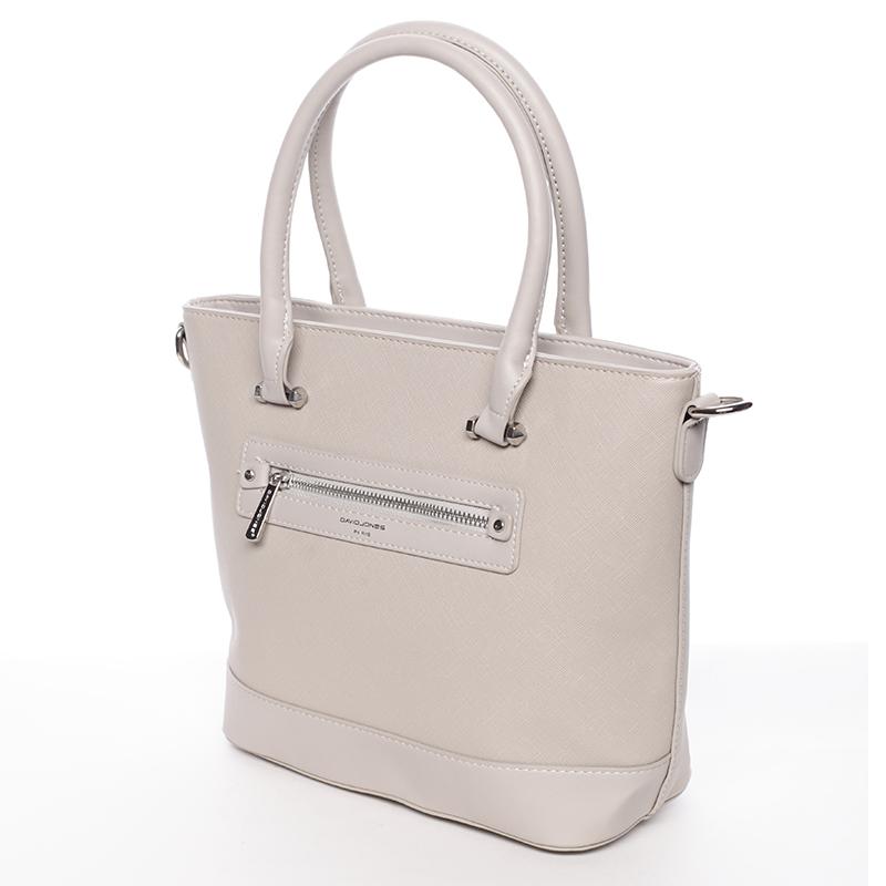 Dámská luxusní kabelka David Jones Celie, šedá