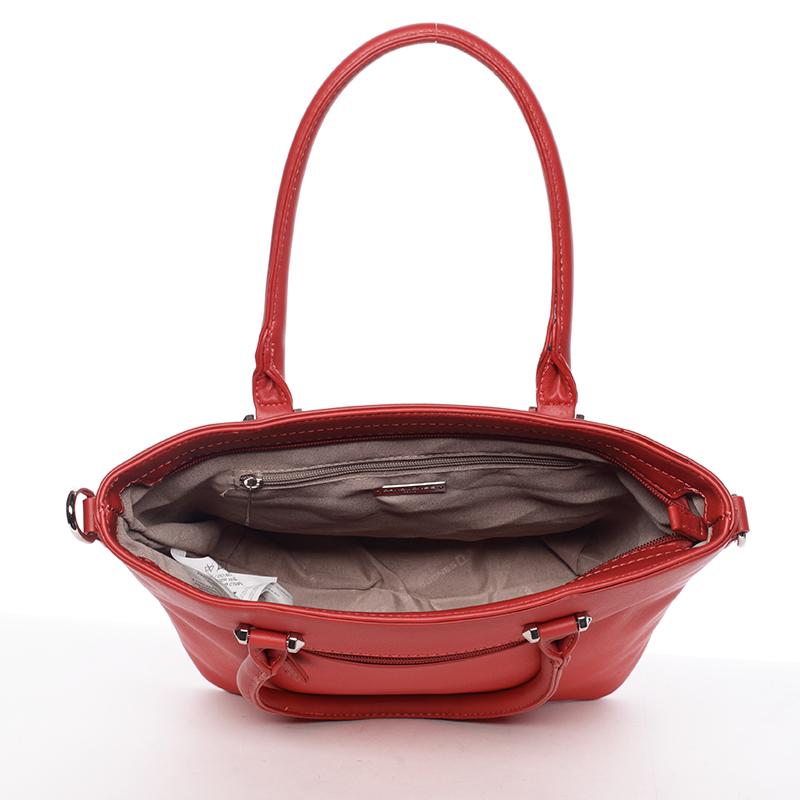 Dámská luxusní kabelka David Jones Celie, červená