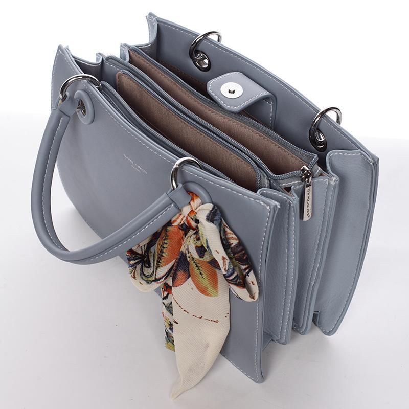 Dámská exkluzivní kabelka David Jones Carlota, modrá