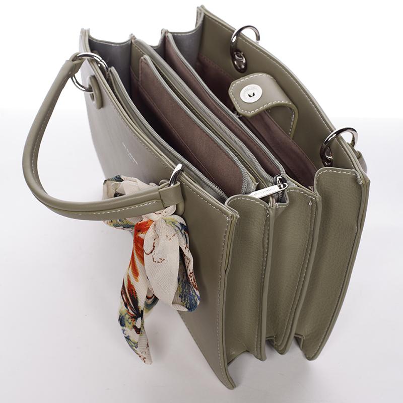 Dámská exkluzivní kabelka David Jones Carlota, khaki