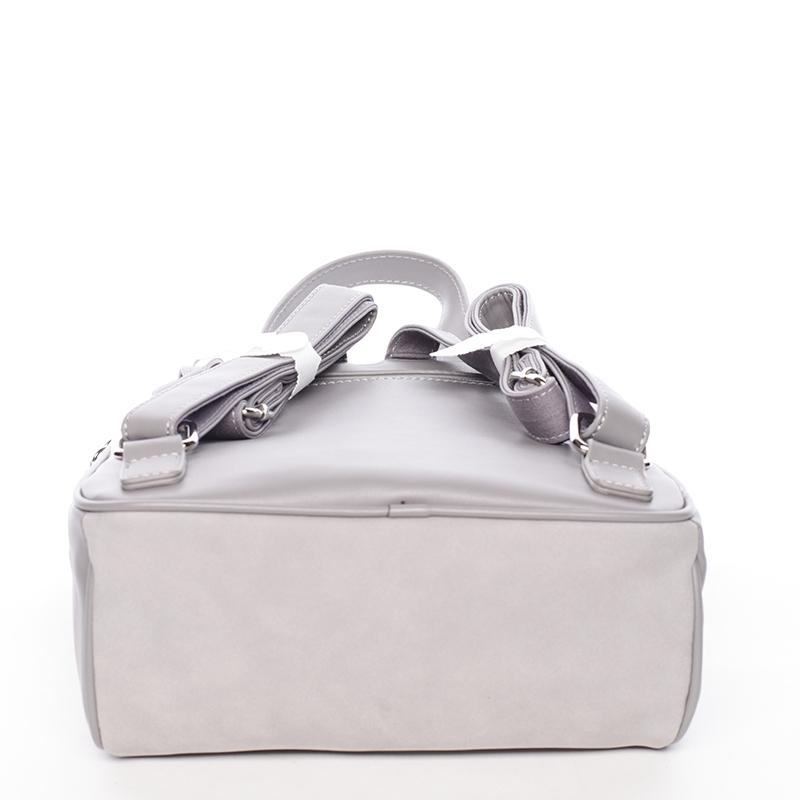 Dámský módní batůžek David Jones Lena, šedý