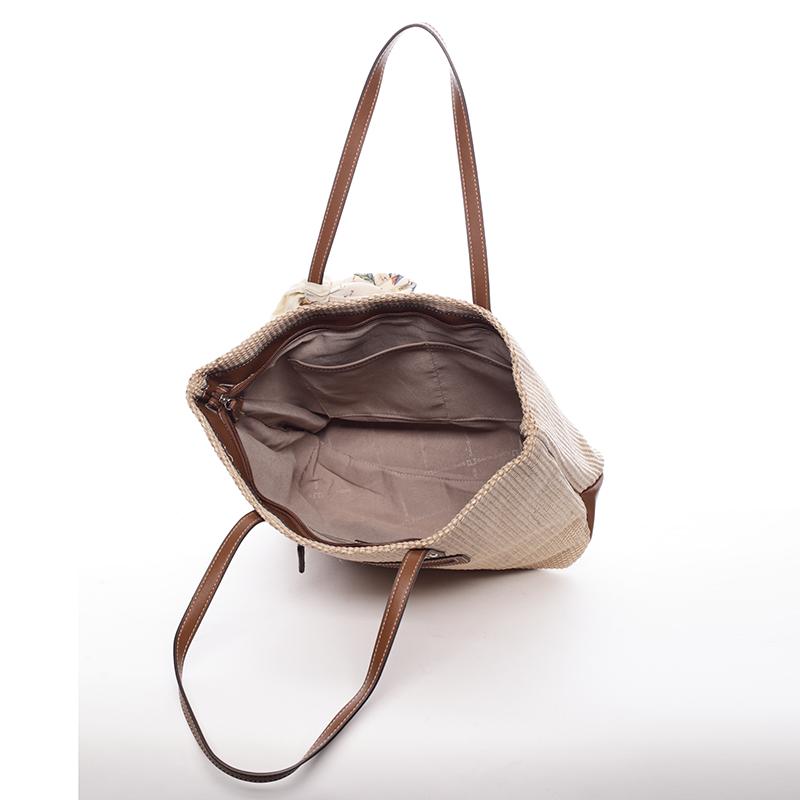 Elegantní dámská kabelka přes rameno David Jones Annie, béžová