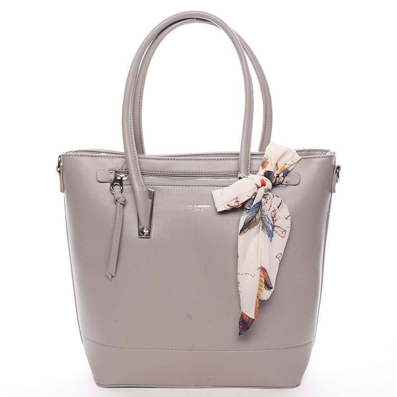 Dámská luxusní kabelka David Jones Engelika, šedá