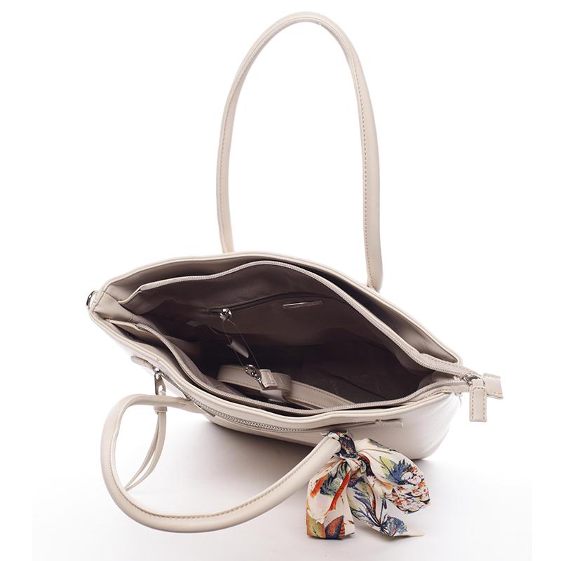 Dámská luxusní kabelka David Jones Engelika, béžová