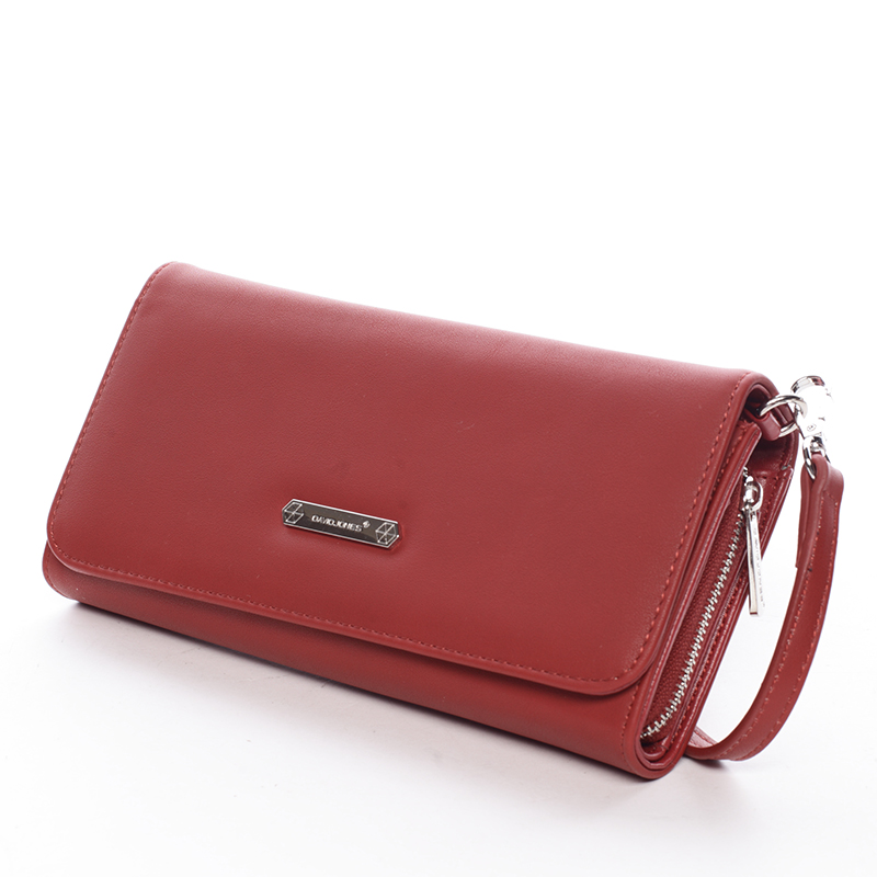 Elegantní dámské crossbody a peněženka David Jones Danny, červená