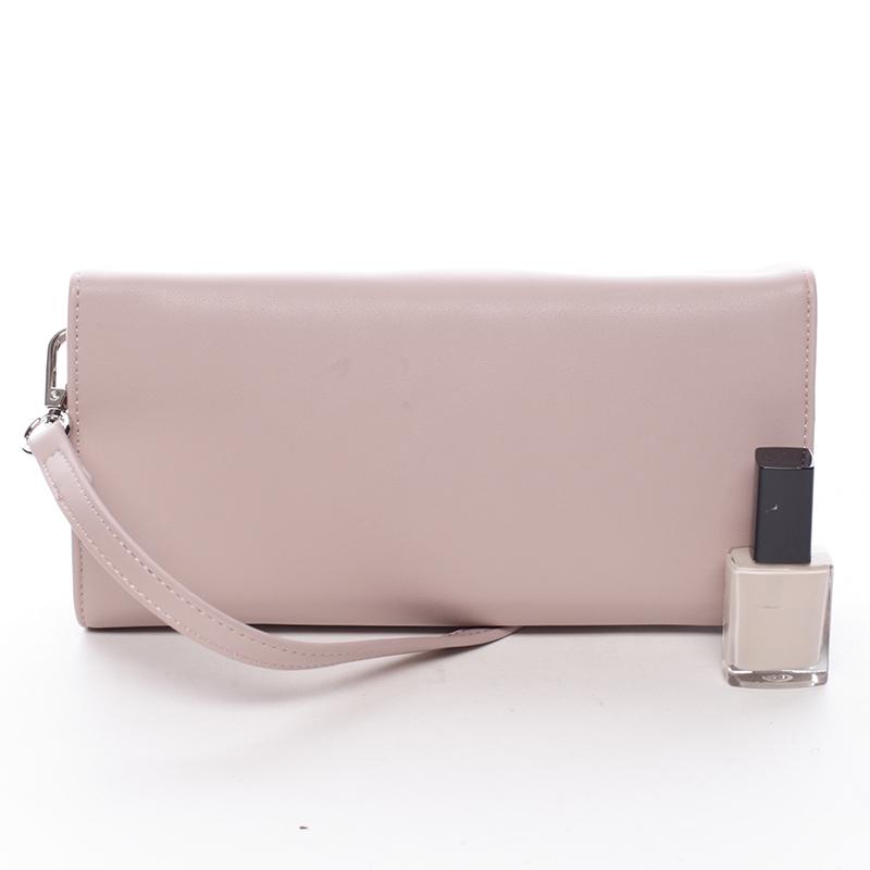 Elegantní dámské crossbody a peněženka David Jones Danny, růžová