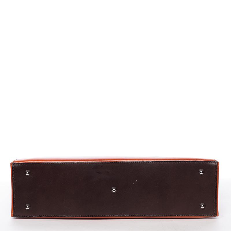 Dámská kožená kabelka Anna, cihlová