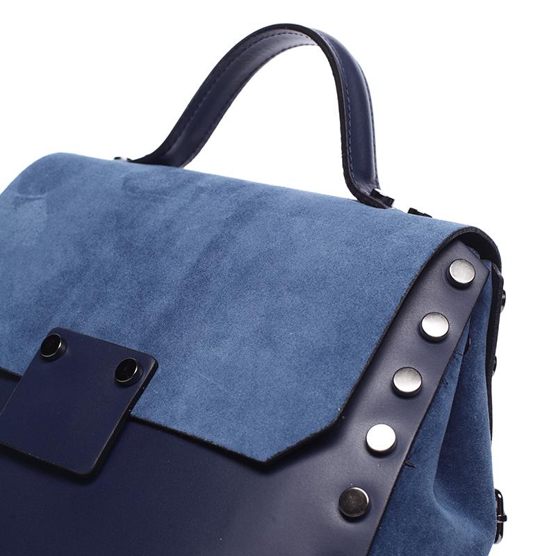 Dámský kožený kabelko-baťůžek Belén, modrý