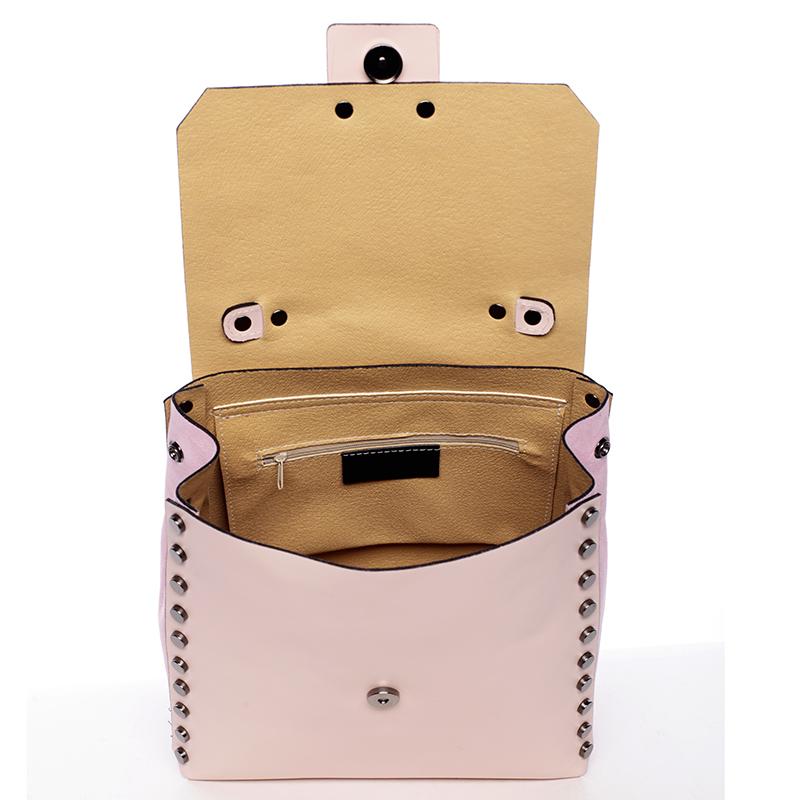 Dámský kožený kabelko-baťůžek Belén, růžový