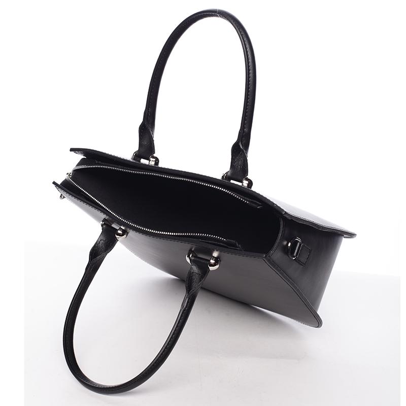 Kožená kabelka Candelaria, černá