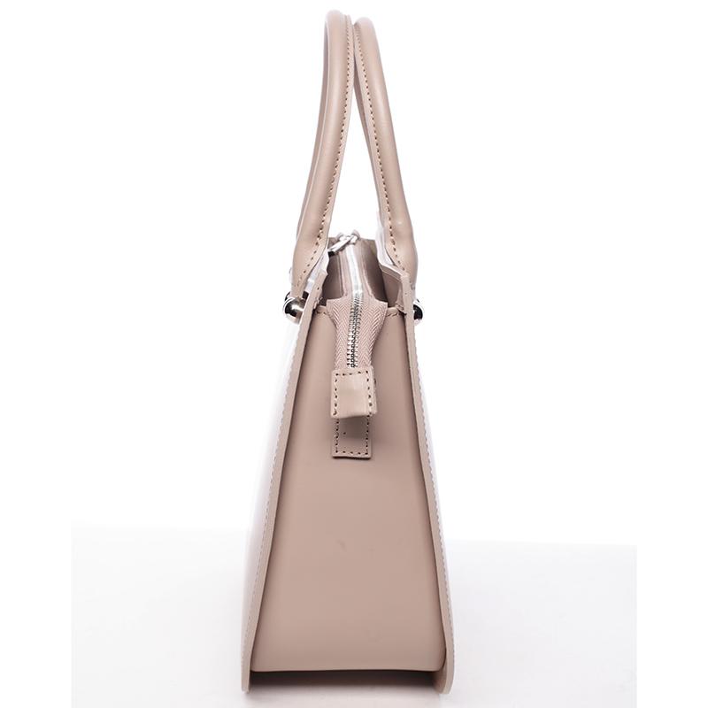 Kožená kabelka Candelaria, béžová