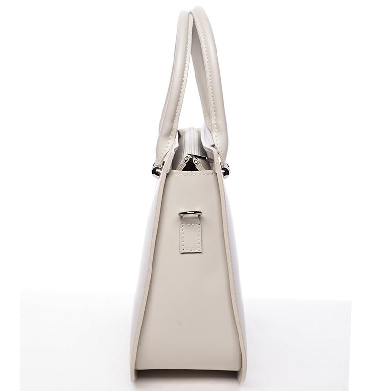Kožená kabelka Candelaria, šedá