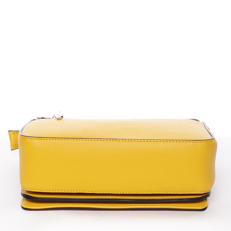 Pevná crossbody kabelka Silvie Rosa Eugenia, žlutá