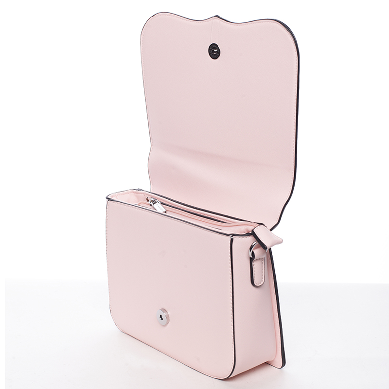 Crossbody kabelka Silvie Rosa Brenda, růžová