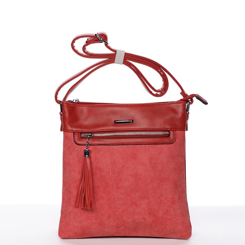 Trendová crosssbody kabelka Blanca, červená