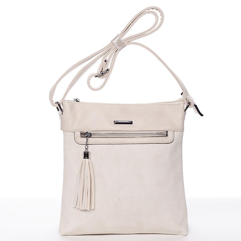 Trendová crosssbody kabelka Blanca, béžová