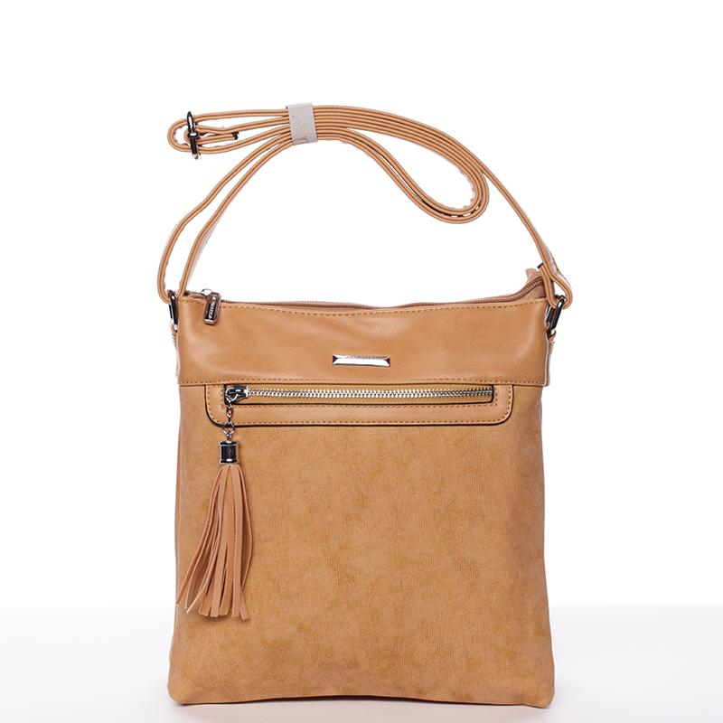 Trendová crosssbody kabelka Blanca, hnědá