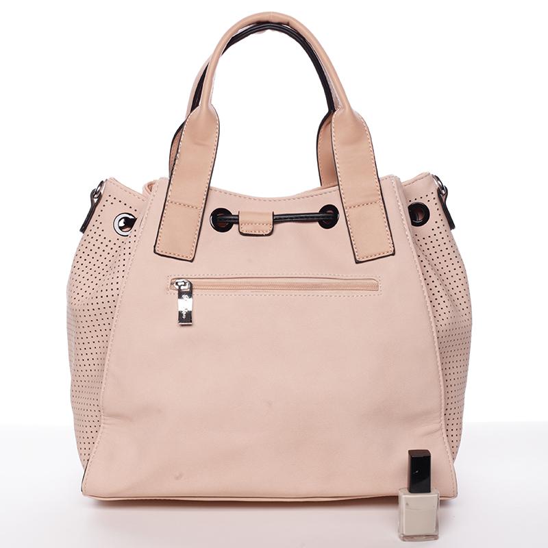 Stylová kabelka do ruky Cristal, růžová