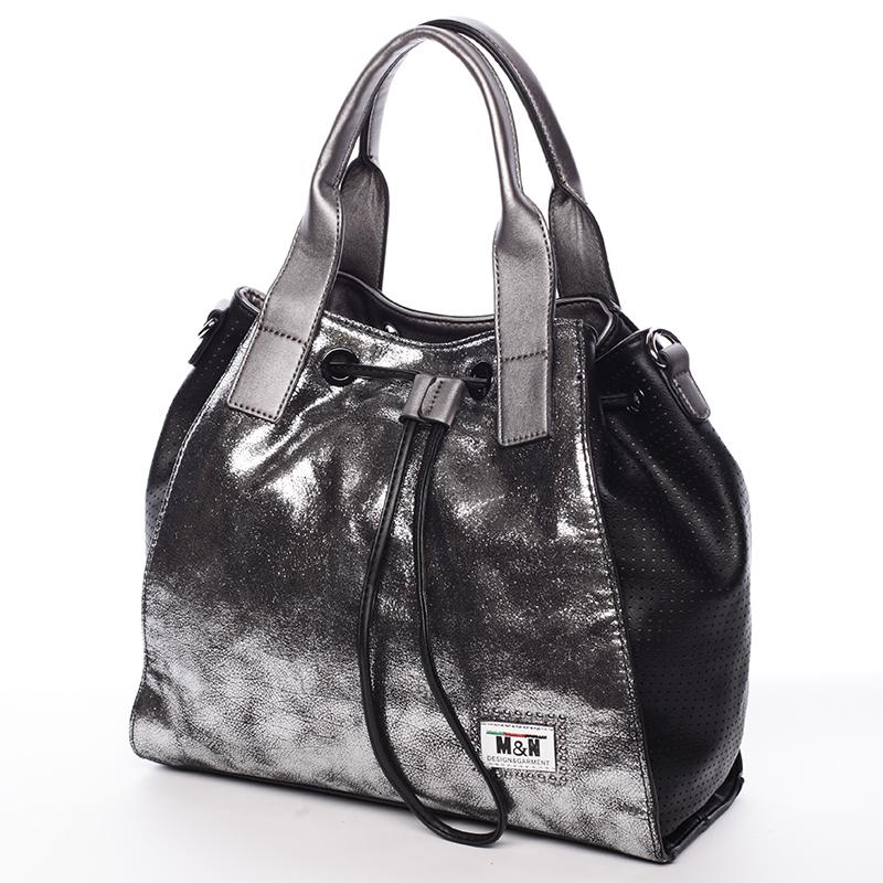 Stylová kabelka do ruky Cristal, černá