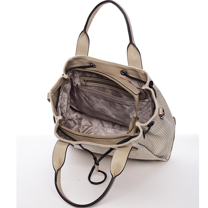 Stylová kabelka do ruky Cristal, béžová