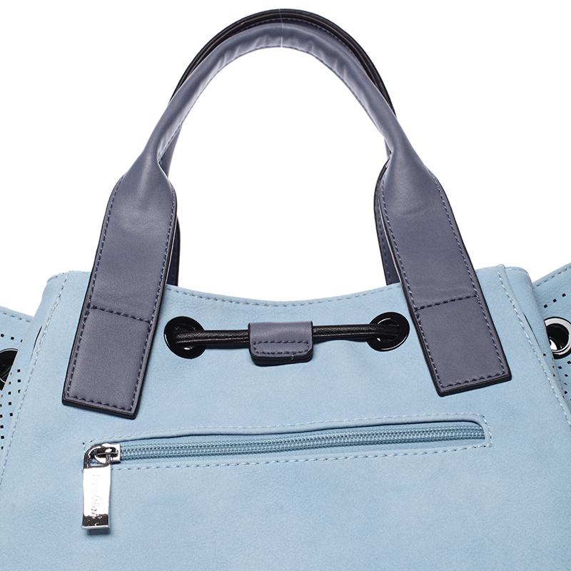 Stylová kabelka do ruky Cristal, modrá