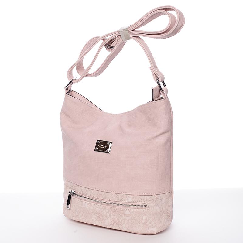 Moderní crossbody kabelka Iris, světle růžová