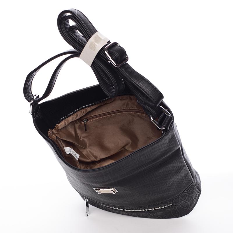 Moderní crossbody kabelka Iris, černá