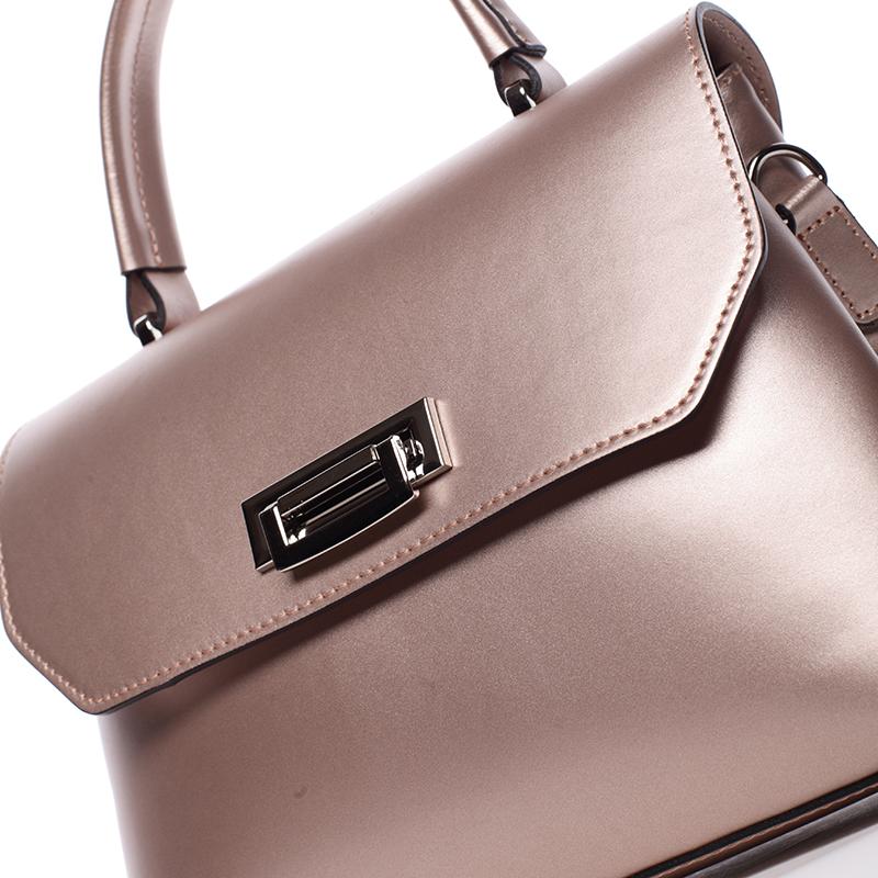 Kožená kabelka do ruky Juana, růžová