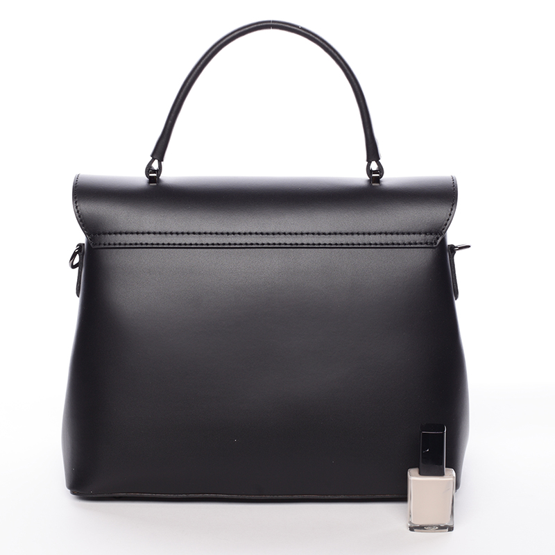 Kožená kabelka do ruky Luana, černá