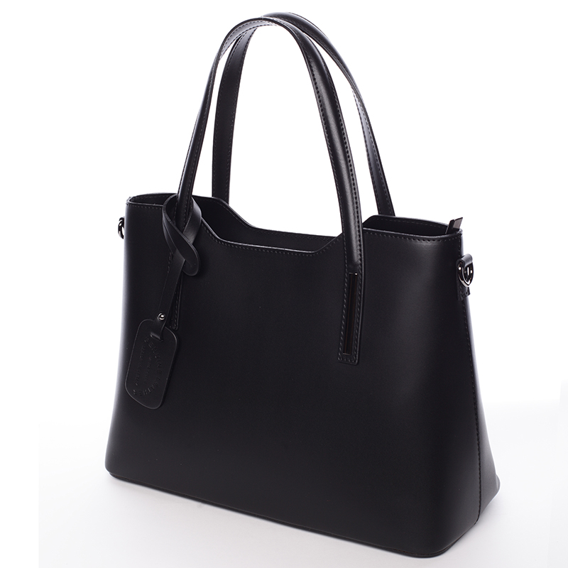 Elegantní kožená kabelka do ruky Maricela, černá