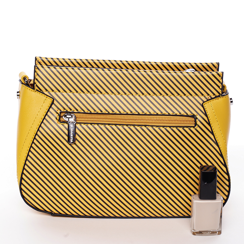 Moderní crossbody kabelka Frida, žlutá