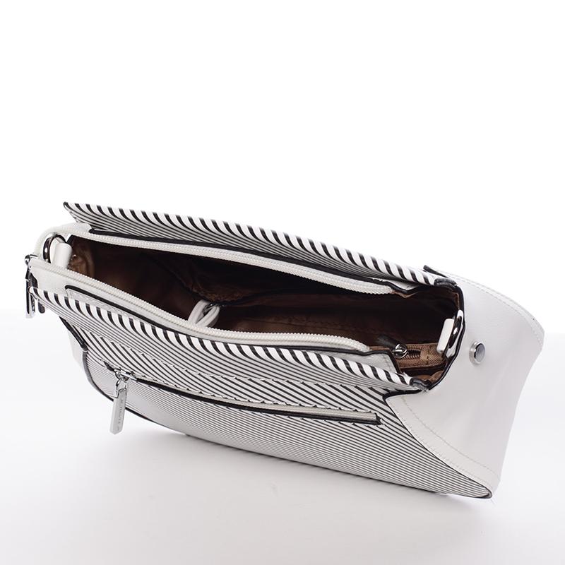 Moderní crossbody kabelka Frida, bílá