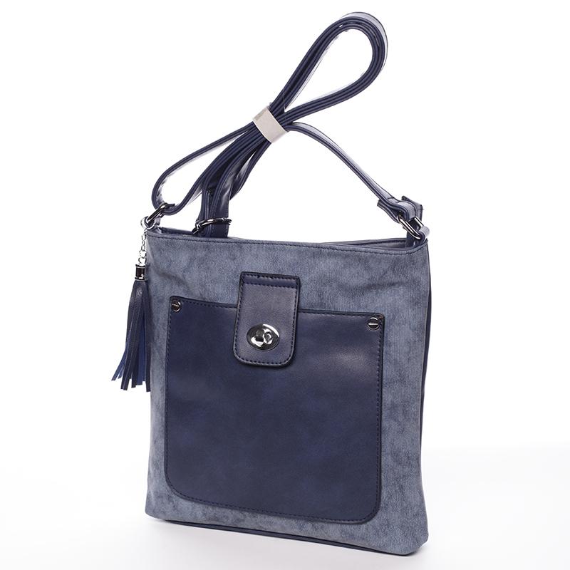 Stylová crossbody kabelka Marcia, modrá