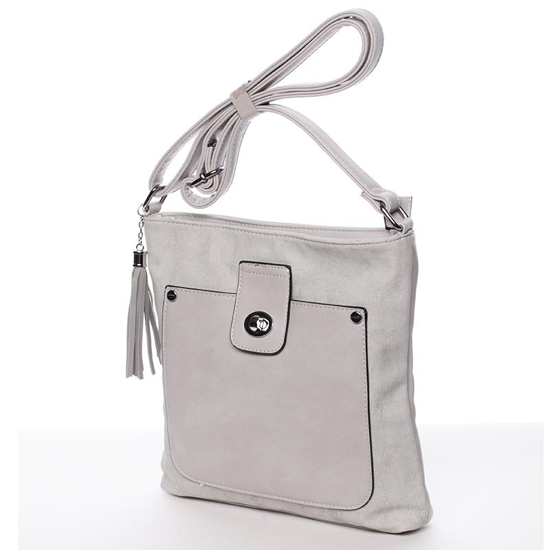 Stylová crossbody kabelka Marcia, šedá