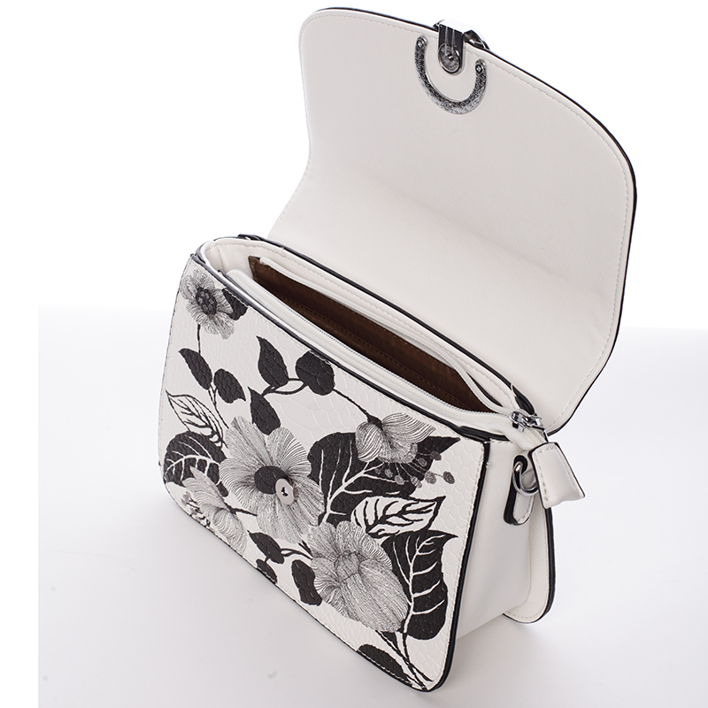 Dámská stylová crossbody Marilú, bílo-černá
