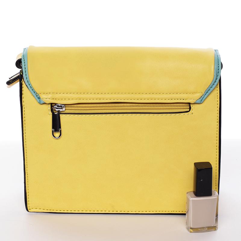 Jednoduchá stylová crossbody kabelka, žluto-zelená