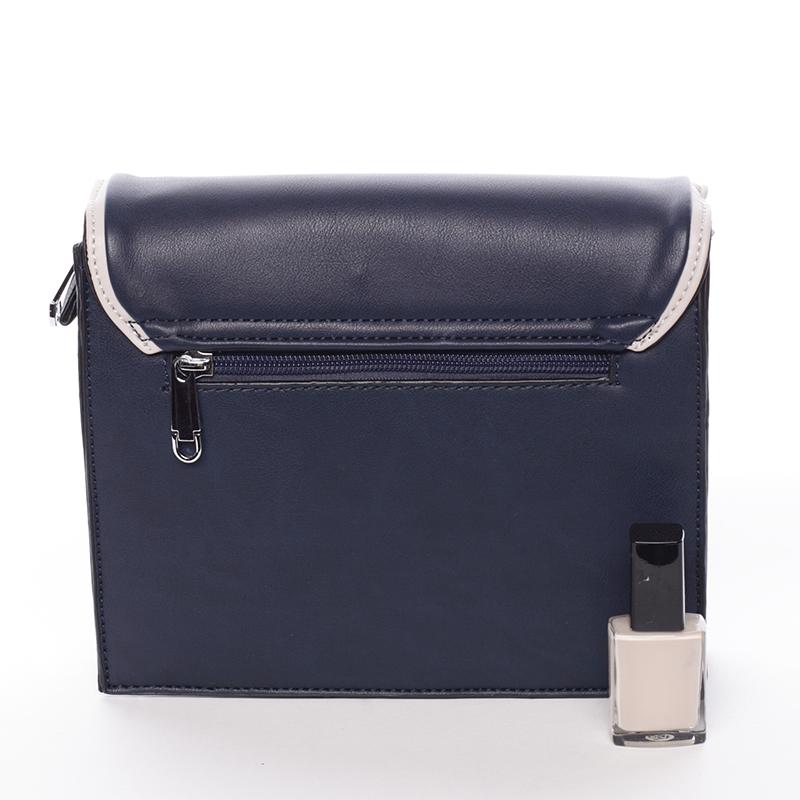 Jednoduchá stylová crossbody kabelka, černo-meruňková