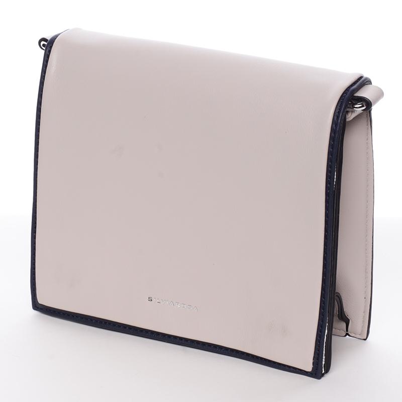 Jednoduchá stylová crossbody kabelka, meruňkovo-černá
