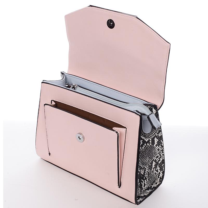Střední crossbody kabelka Carlota, růžová