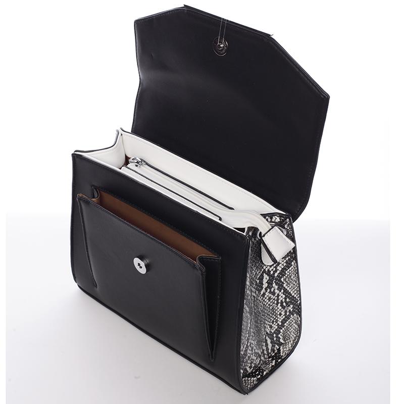 Střední crossbody kabelka Carlota, černá