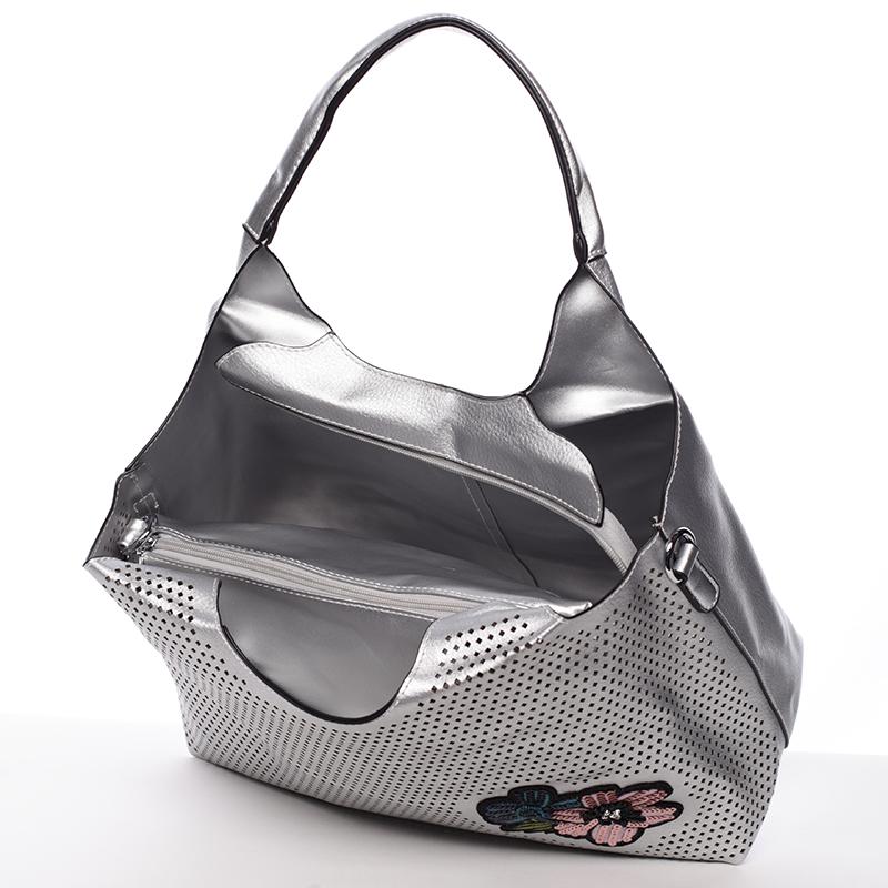 Elegantní módní kabelka MC Mary Elena, stříbrná